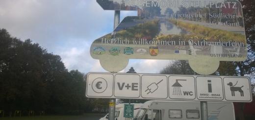 Stellplatztest Ostrhauderfehn Reisemobilhafen