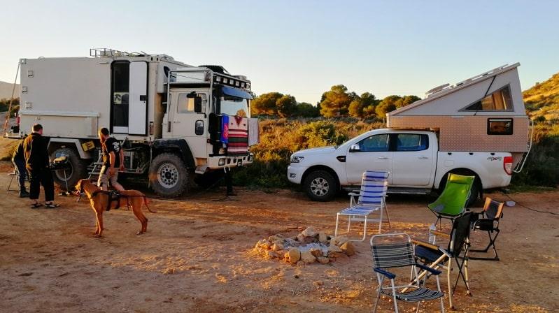 Spanien mit dem Wohnmobil Offroad Truck